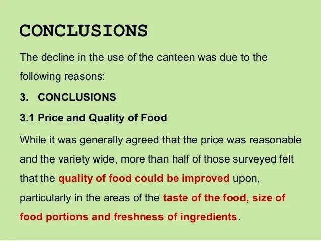 Conclusions Examples Baskan Idai Co