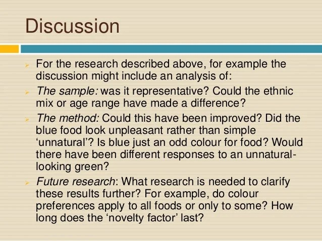 Discussion Section Psychology Research Paper