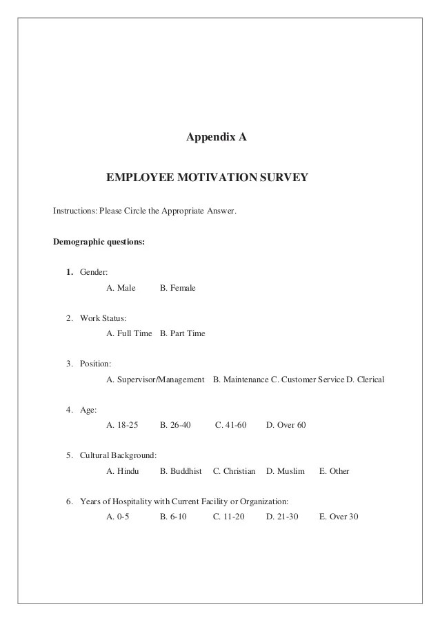 FACTORS AFFECTING EMPLOYEE'S MOTIVATION IN