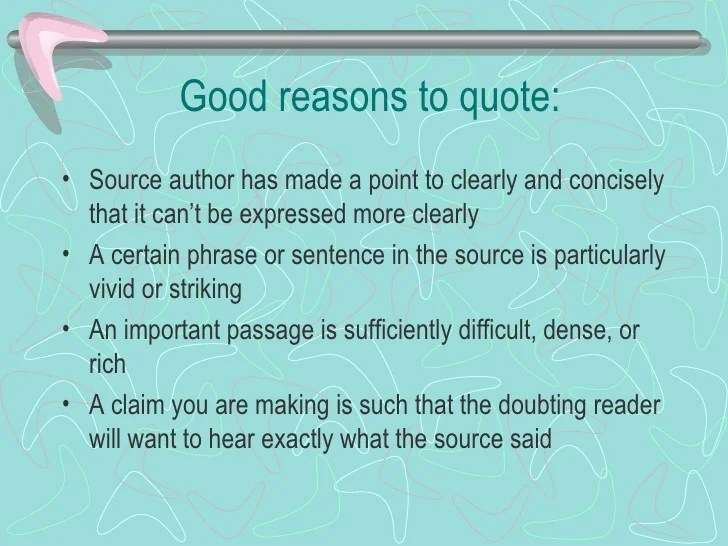 Research Paper Quotations