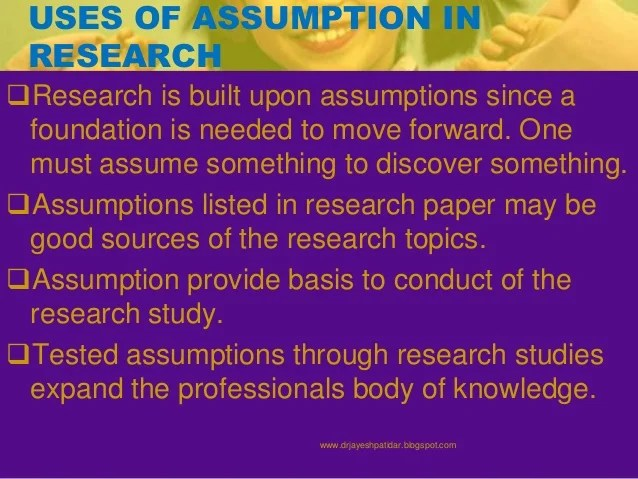Research Assumption