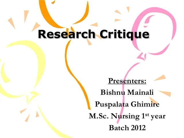 Research Critique Example Apa Format Asli Aetherair Co