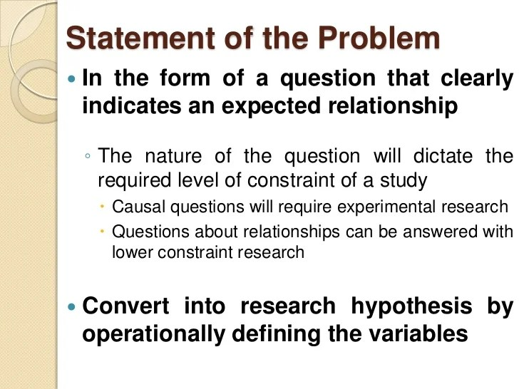 Statement Of The Problem Of Pos Thesis Essay Service