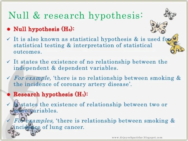 how to write a null hypothesis in a research paper
