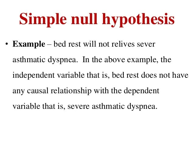 Research Hypothesis Ppt