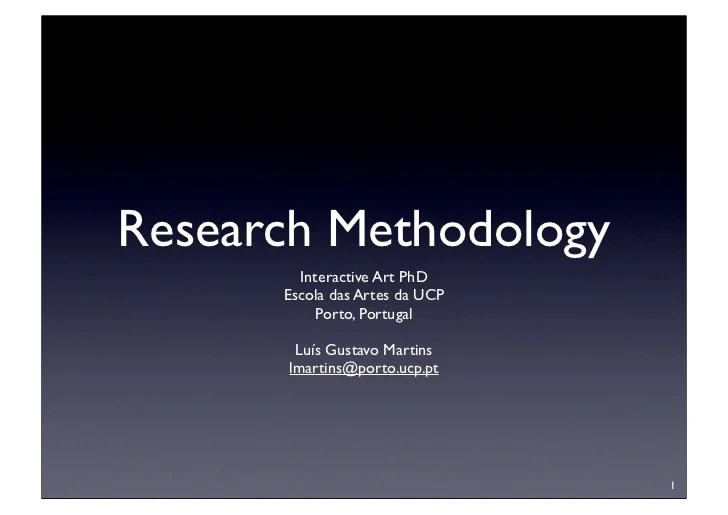 Research Methodology What Is A PhD?