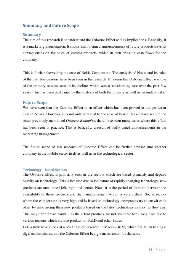The Osborne Effect A Case Of Nokia Research Paper