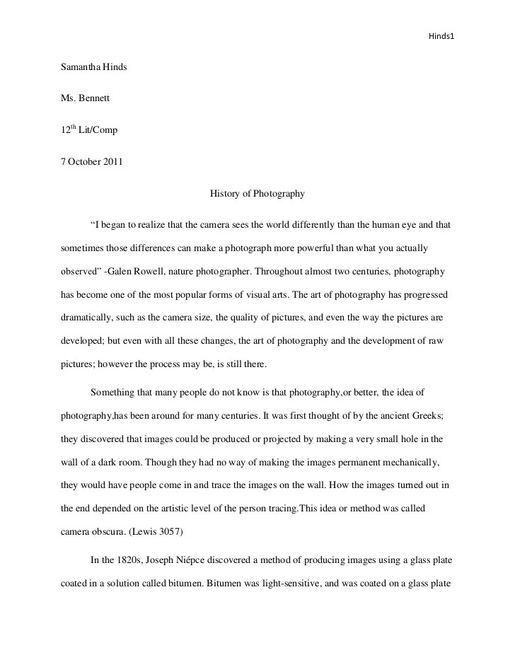 Senior Project Research Paper
