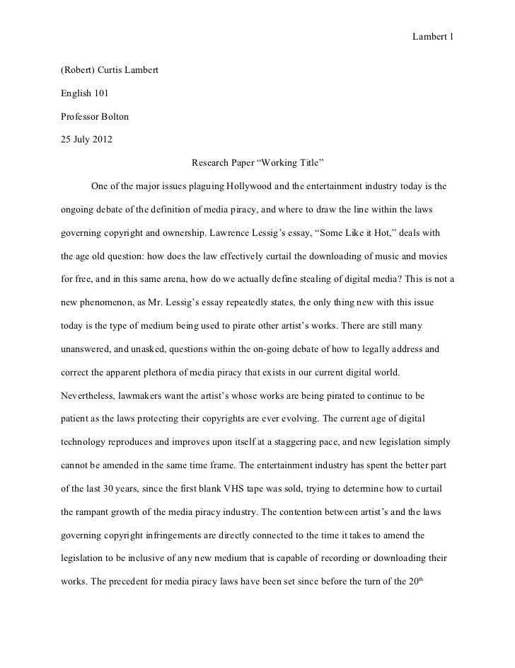 Research Paper Rough Draft 25 July 2012