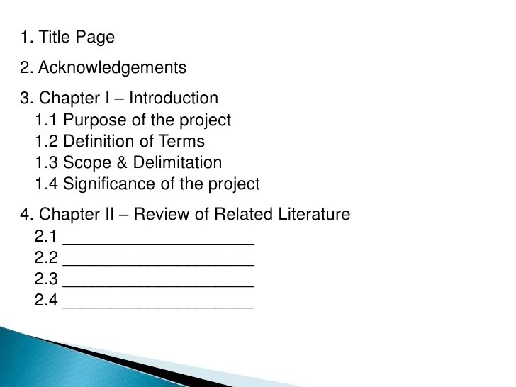 Chapter One Paper Purpose Research Study Research Paper Writing