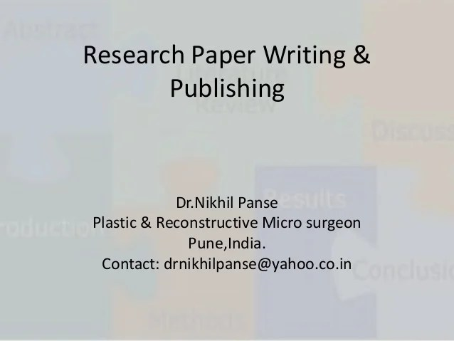 Medical Research Paper Writing