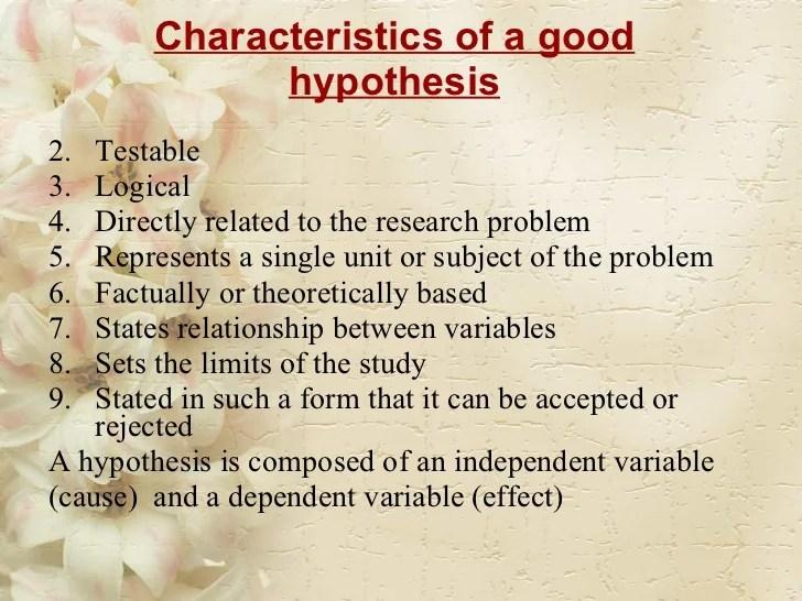 Research Problem Hypothesis & Conceptual Framework