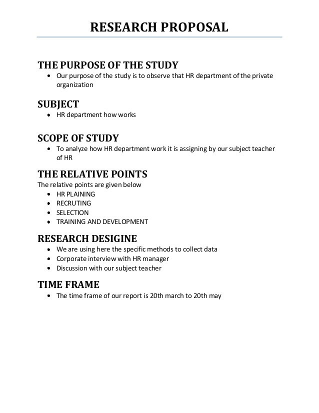 mla research proposal sample