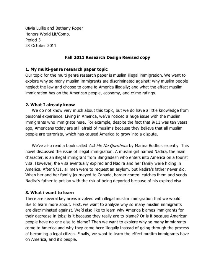 Research Proposal Fall 2011