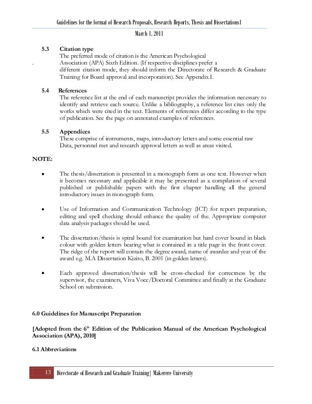 Research Proposal & Thesis Format Ver 4 April 2011