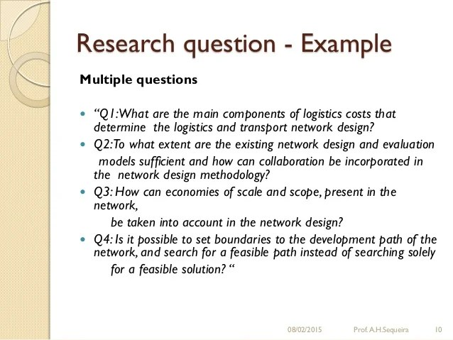 Can A Thesis Statement Be A Question For A Research Paper College