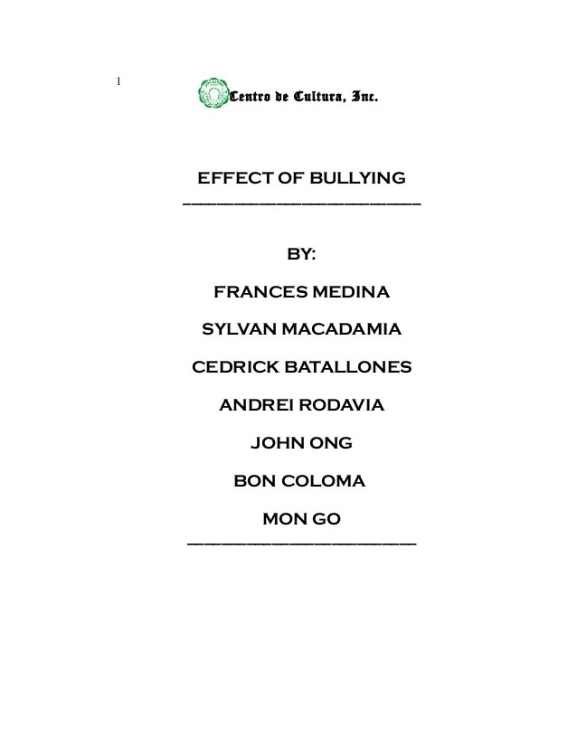 Verbal Bullying Essay Research Thesis Effects Of Bullying Essay On