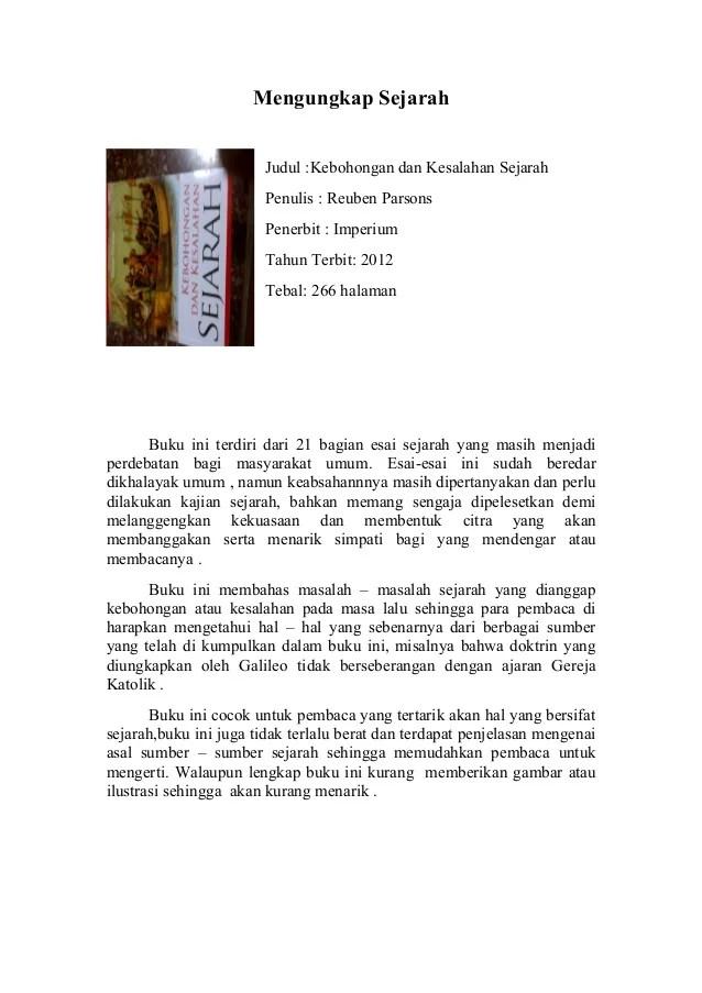Contoh Resensi Buku : contoh, resensi, Resensi, Kebohongan, Kesalahan, Sejarah