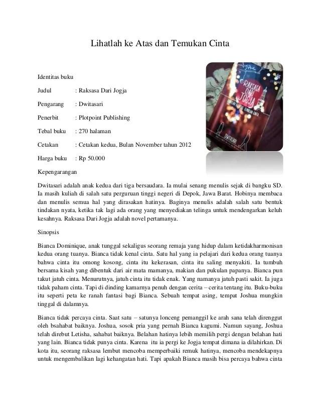 Contoh Resume Bahasa Indonesia Dan Inggris Contoh Resensi Buku Non