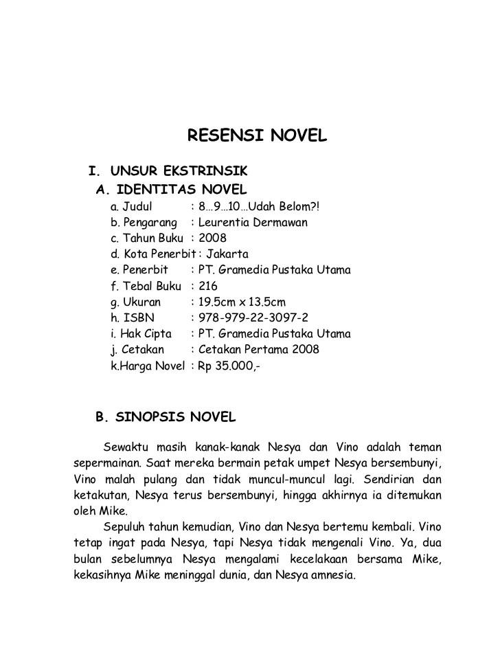Contoh Resensi Novel Dalam Bahasa Sunda Kumpulan Contoh Cute766