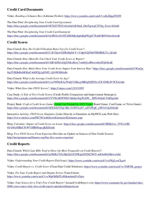 Resource List Next Gen Pf Financial Education Resources