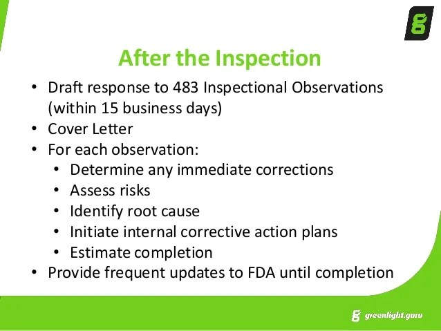 How to Prepare for an FDA Inspection and Respond to FDA