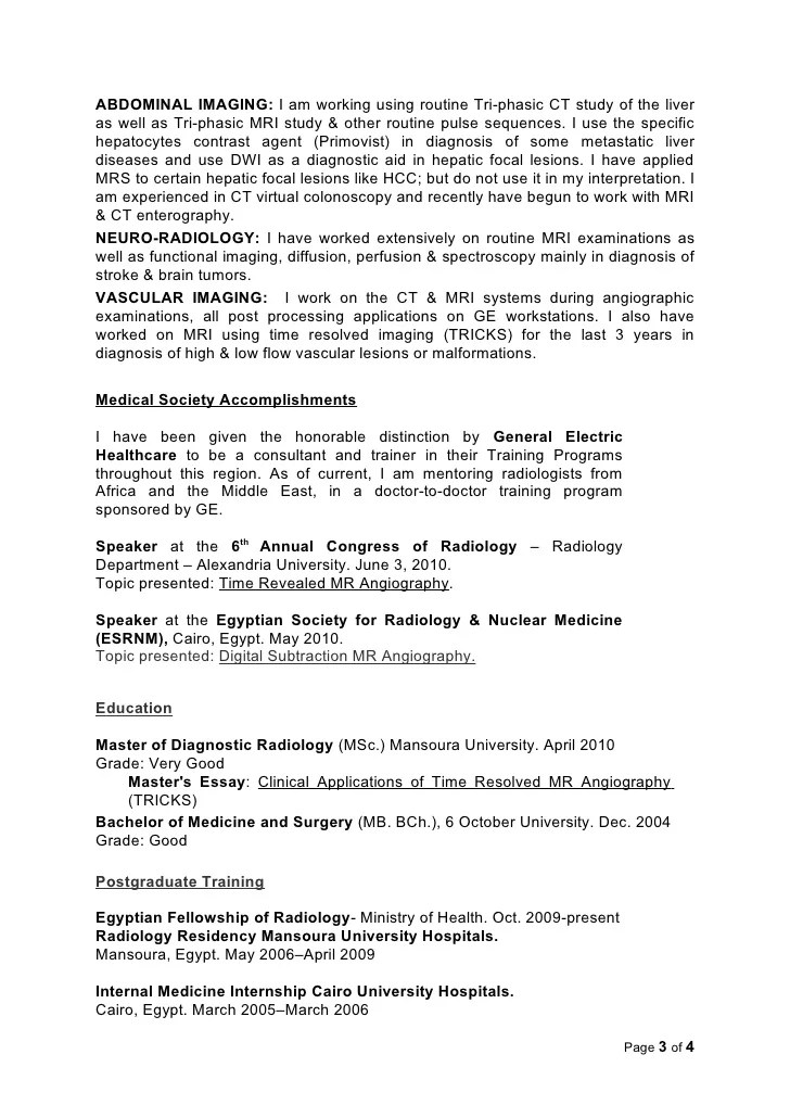 member of a society resume examples