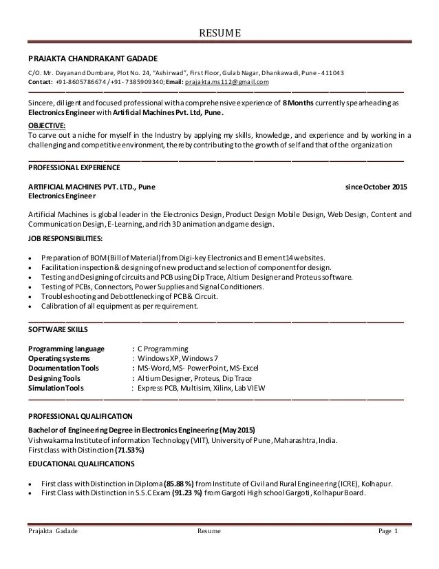 Resume With Azure Experience - Resume Examples | Resume Template