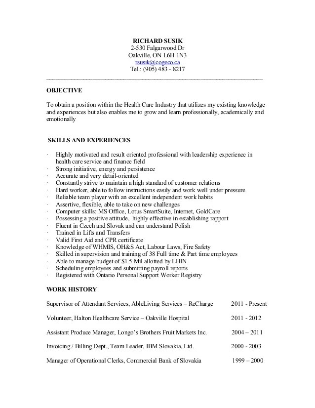 Psw Resume Examples - Examples of Resumes
