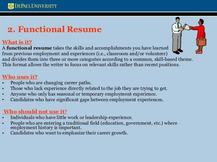 functional resume skill categories