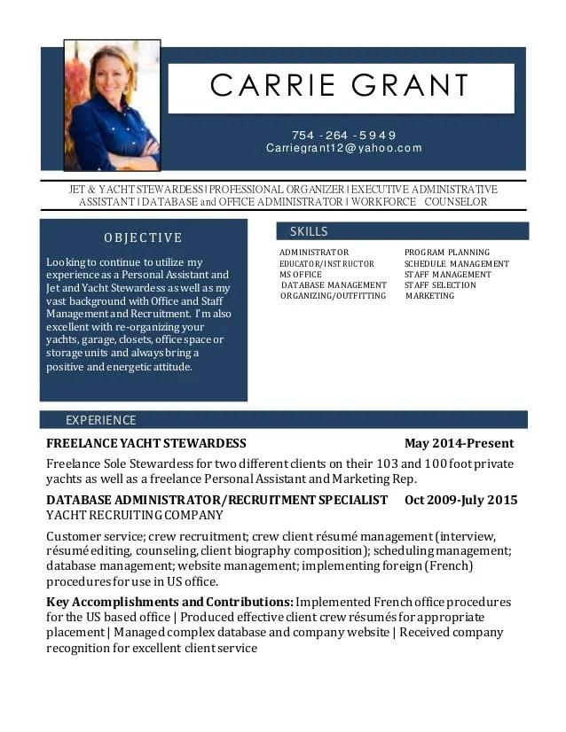 Carrie Grant Resume