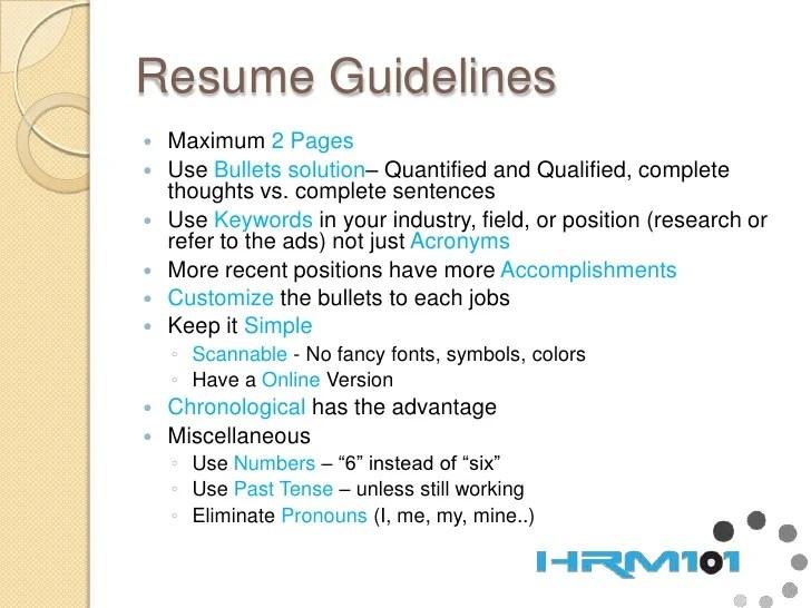 resume complete sentences