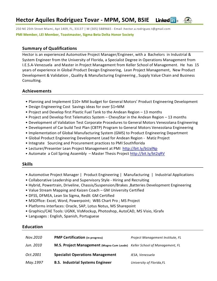 Resume Functional Automotive
