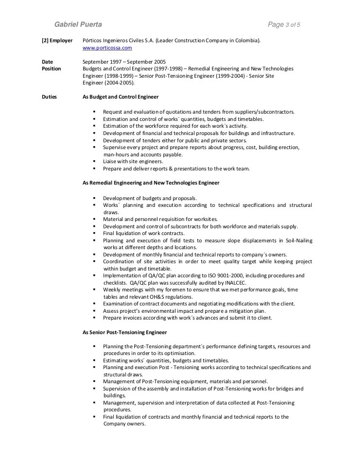 examples of good psw resumes