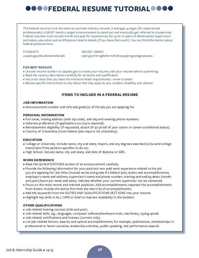 federal resume how many pages