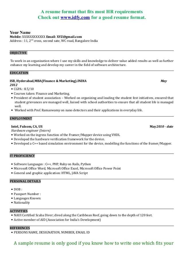 Best Resumes Format Sample Customer Service Resume  Good Resume Format Examples