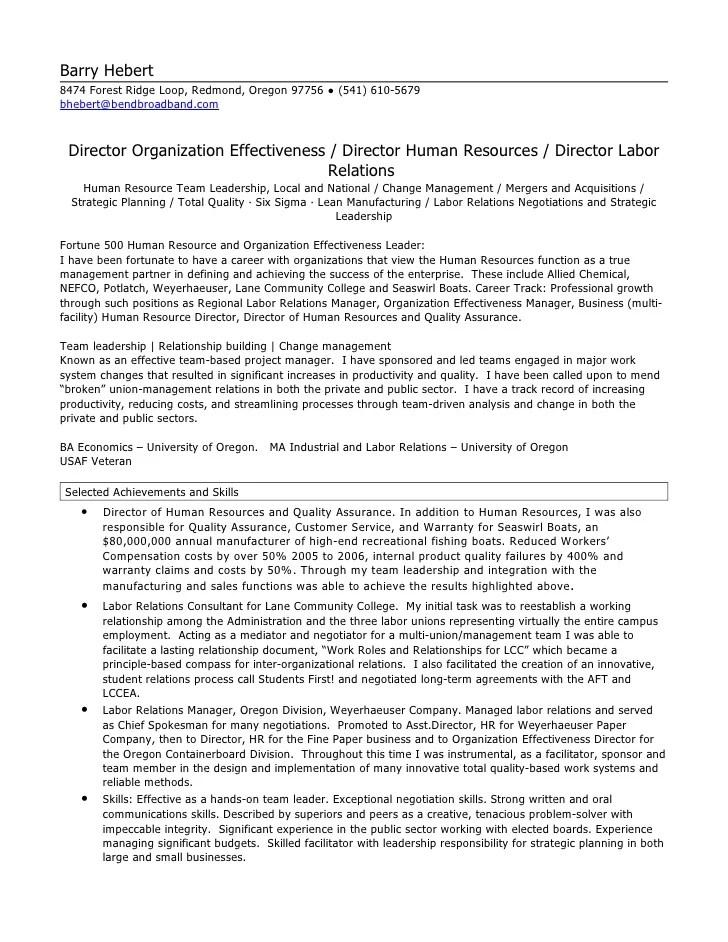 HR Director Resume