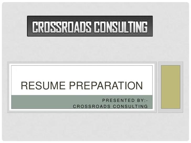 Resume Preparation Services