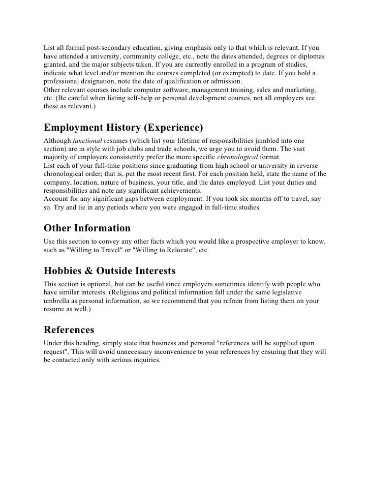 Resume Preparation Tips