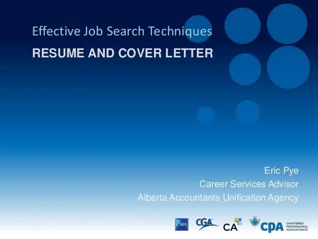 Resume  Cover Letter Presentation