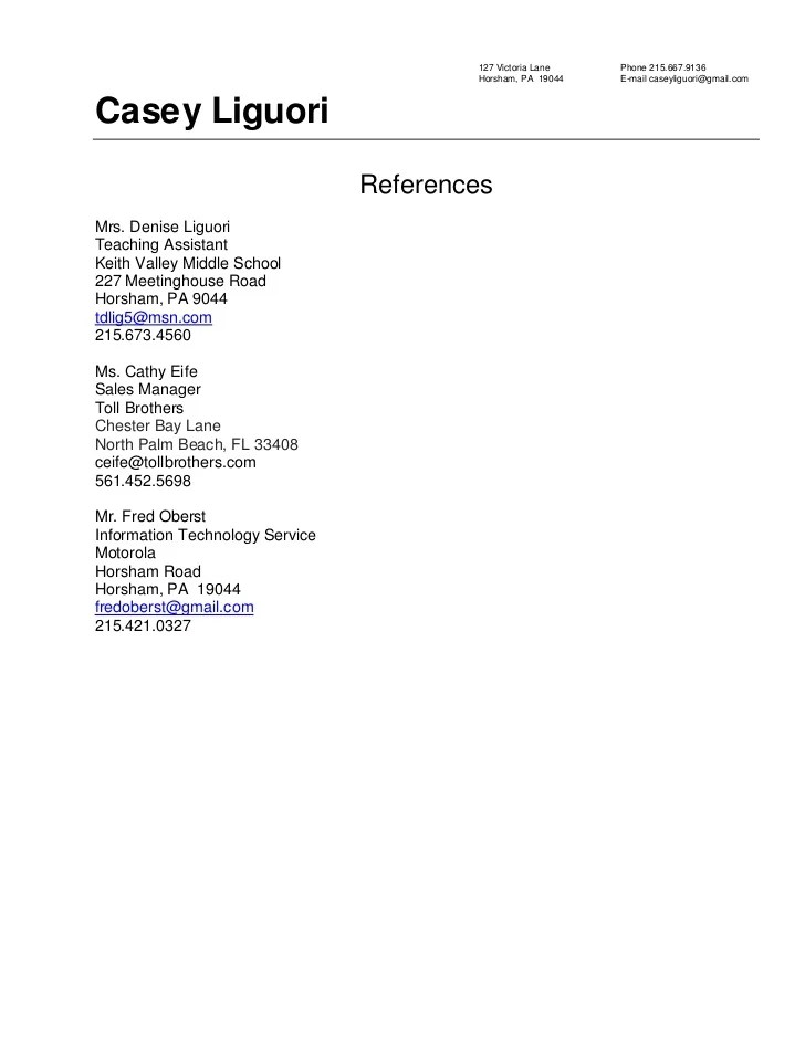 Reference Format Resume Resume References Format References On A  Reference Format For Resume