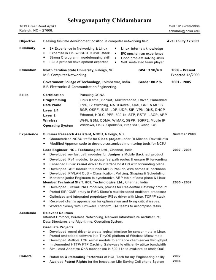 Selva Resume 3 Experienced Networking Engineer