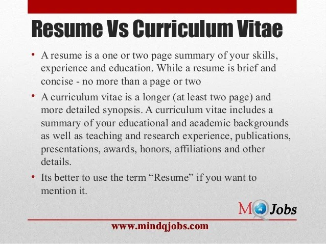 resume one page vs two
