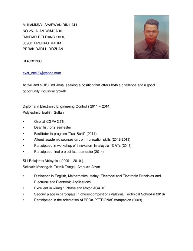 Download Resume Lengkap Resume For Lecturer Job Pdf
