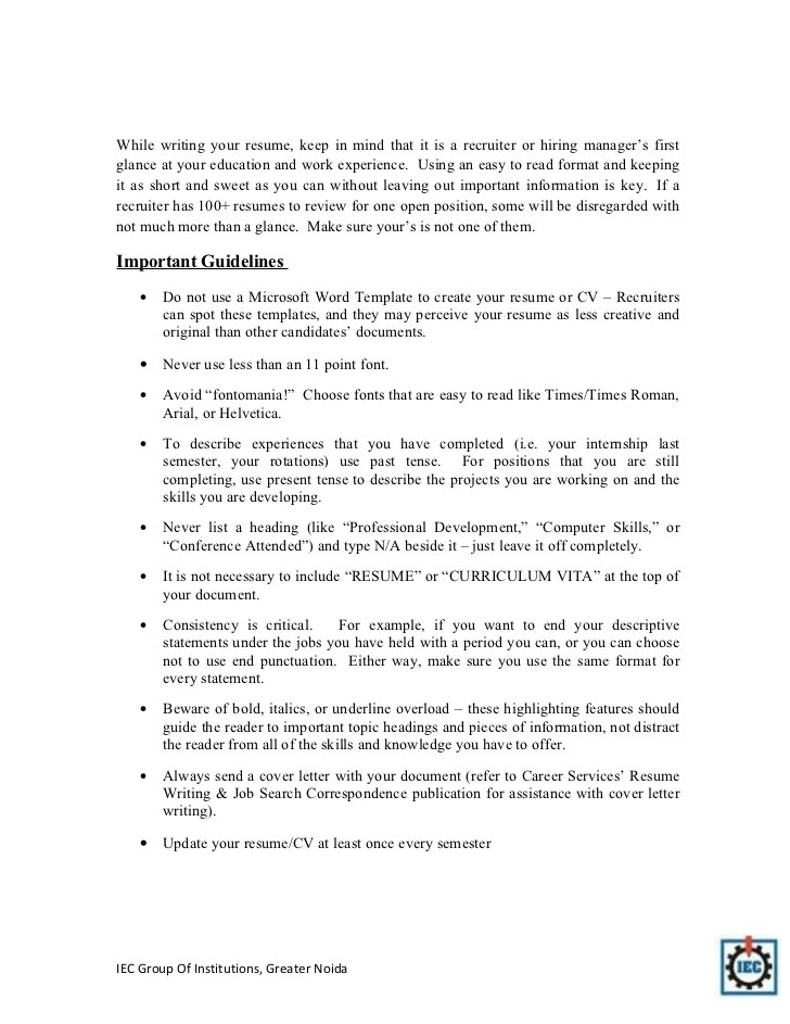 Resume Tips For Pharmacy Graduates