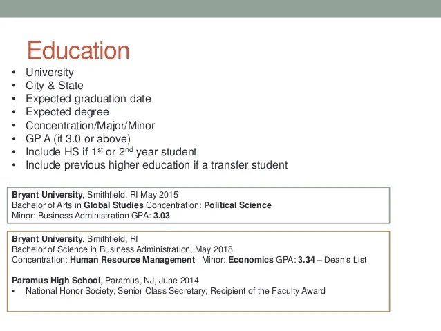 how to show gpa on resume example