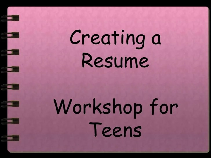 resume tips for teens
