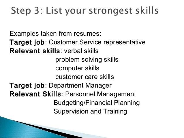 relevant job skills