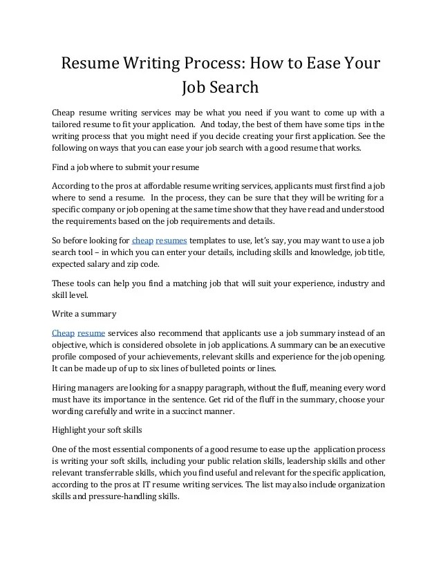 Resume Writing Industry Victory Resume Writing Home