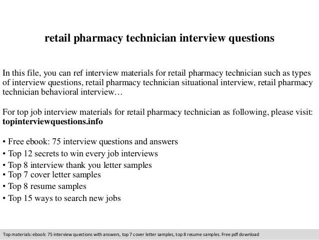 pharmacy technician interview questions